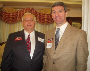 GOP nominee for Governor Ken Cuccinelli with Jon Moseley, Freedom Leadership Conference Board member and regular speaker.