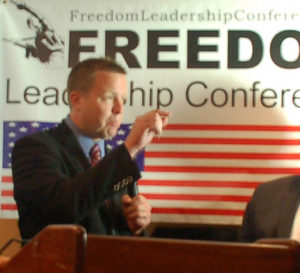 Corey Stewart at Freedom Leadership Conference on Aug. 2, 2010, defending the Rule of Law in America