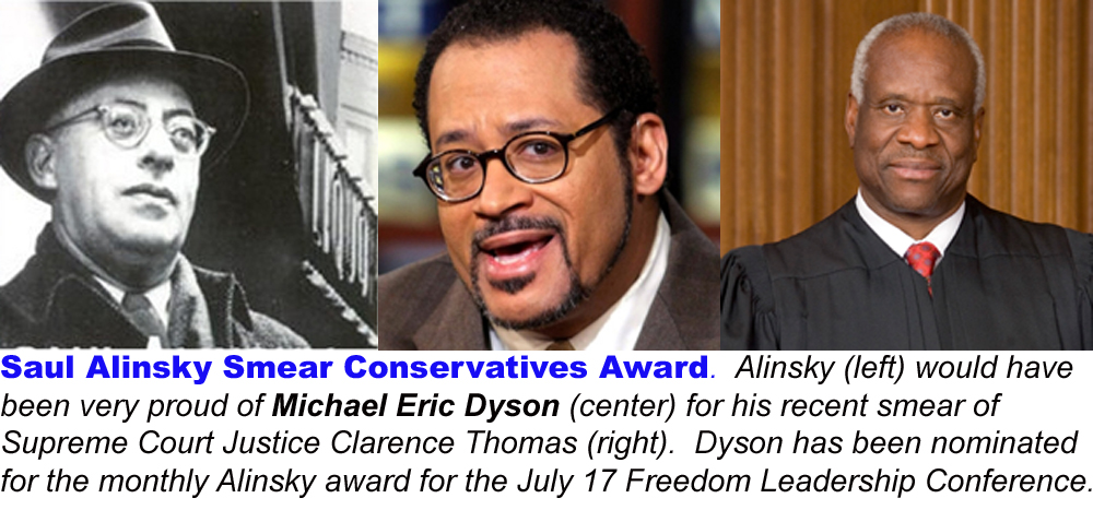 You may comment on this nomination or make one of your own, write LeftSmear@FreedomLeadershipConference.org