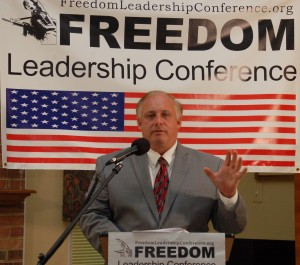 Jon Moseley delivers keynote remarks at July 17, 2013 Freedom Leadership Conference on how Amnesty for Illegal Aliens will hurt US economy
