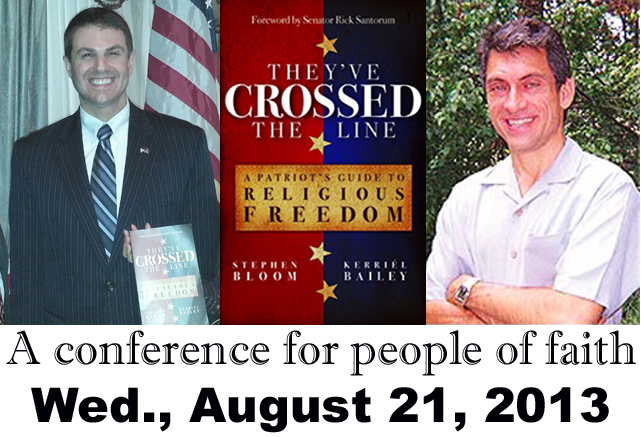 Pennsylvania State Rep. & book author Stephen Bloom, and Birthmother Ministries President Jim Wright, will be principal speakers at August 21 Freedom Leadership Conference in Northern Virginia