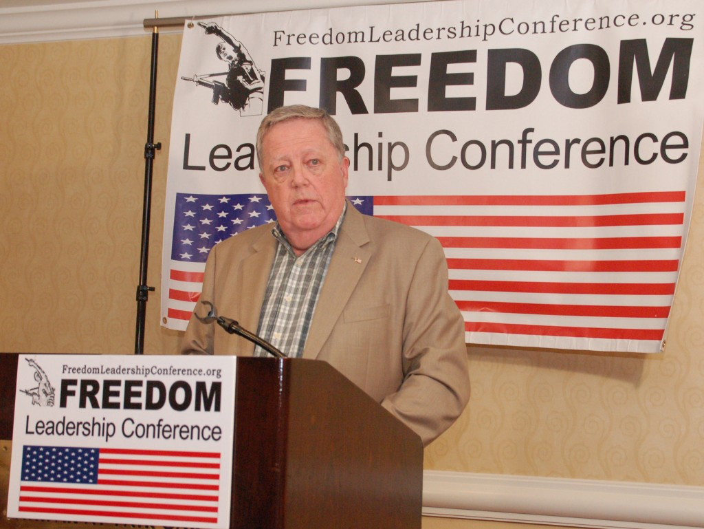 Michael Thompson of Thomas Jefferson Institute for Public Policy was keynote speaker at last month's Freedom Leadership Conference.