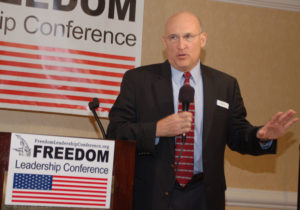 "Fairfax Free Citizen (FFC) will co-sponsor the ""Governor Forum"" at Freedom Leadership Conference this Thursday, 2/16. Editor Tim Hannigan will speak; pictured here speaking at a past Conference."