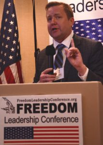 Candidate for Governor Corey Stewart addresses Freedom Leadership Conference (his second appearance)
