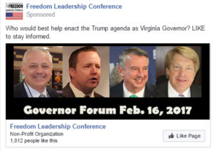 Facebook ads already run in the past 10 days have reached 8,238 plus the 1000 members of our Fan Page, subscribers to our e-newsletter Freedom Digest and other conservative groups which carry the news. Here is a new ad which began a second wave of ads yesterday. This is made possible by the extra donations and the Host Committee Donors who support the conference. Sponsor, dinner fees and the minimal admission fee of $5 barely cover the room rental and associated incidentals.