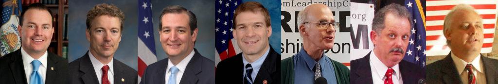 March 15 Senators Ted Cruz, Mike Lee, Rand Paul & Rep. Jim Jordon; March 16 Dr. Steven Allen, Richard Buck, Jon Moseley