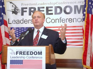 Jon Moseley, the keynote speaker for the July 17 Freedom Leadership Conference, is one of the founders of the new monthly Conference series started in late 2012 after operating for 14 years as an annual function.  He is shown here as a speaker  at the December 5, 2012 conference.