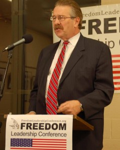 Jim Lafferty of the Virginia Anti Sharia Law Task Force spoke at the 3/27 Freedom Leadership Conference on how Sharia Law is advancing in America, a topic which will be covered in more detail at the June 12 event featuring John Guandolo as the keynote speaker