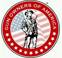 The logo of Gun Owners of America makes a perfect fit for the Patriots' Day Celebration on April 13 at Freedom Leadership Conference.