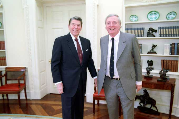 National Review Editor William F. Buckley with President Ronald Reagan (1988)