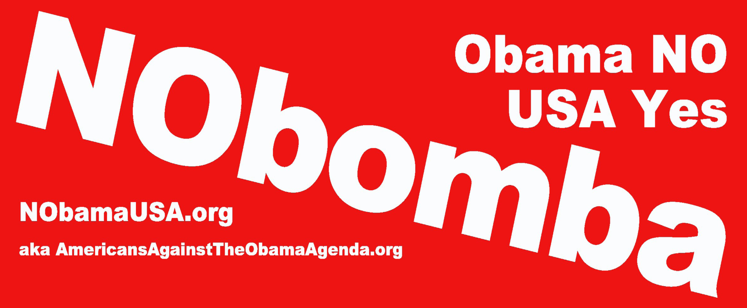"""Nobomba Syria"" is the message of this free bumper sticker to be provided to each attendee of the 9/11 memorial Freedom Leadership Conference courtesy of Americans Against the Obama Agenda"